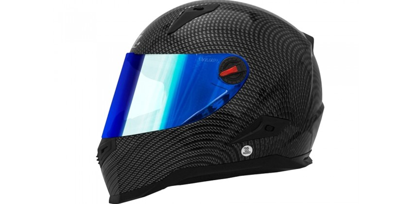 FFS1 Carbon Full-face Iridium Blue Visor 0
