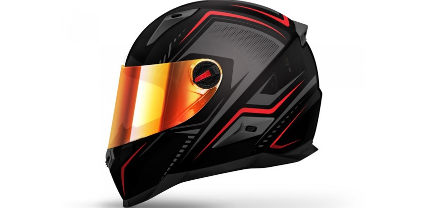 FFS1 Line Full-face Iridium Red Visor 0