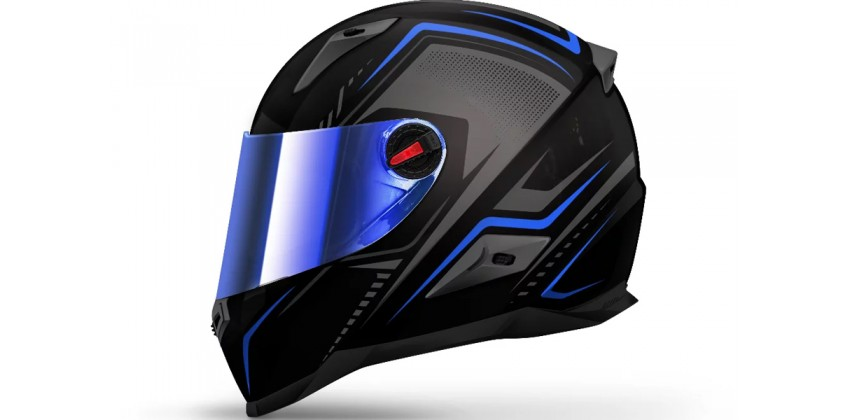 FFS1 Line Blue Full-face Iridium Blue Visor 0
