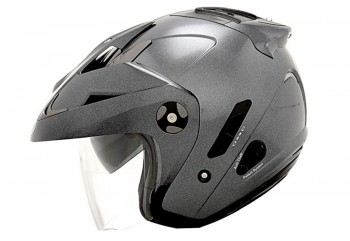 KYT Forever Solid Helm Half Face Merah