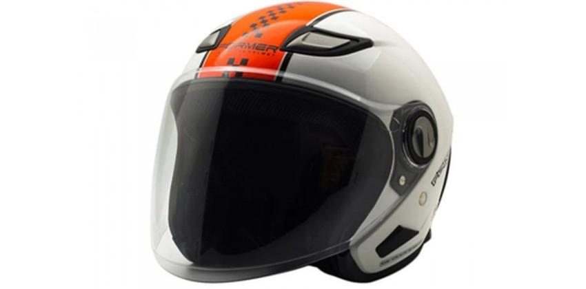 Cargloss Former Flo Orange White  Helm Half-face 0