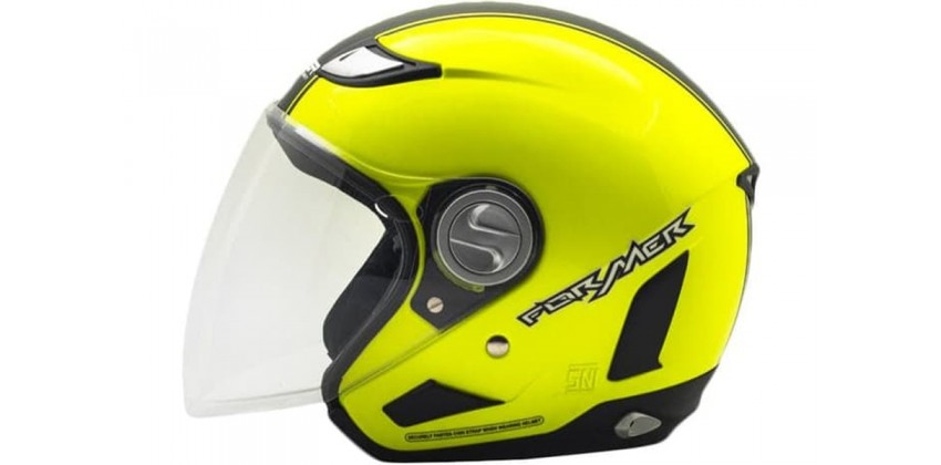 Cargloss Former Flo Yellow Deep Black  Helm Half-face 0