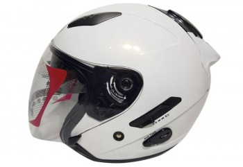 KYT Galaxy Slide Helm Half-face Putih