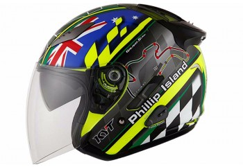KYT Galaxy Slide Circuit - Phillip Island  Helm Half-face