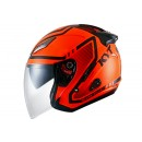 Galaxy Slide Super Fluo #1 Helm Half Face - Red/Black Half-face 0