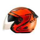 Galaxy Slide Super Fluo #1 Helm Half Face - Red/Black Half-face 1