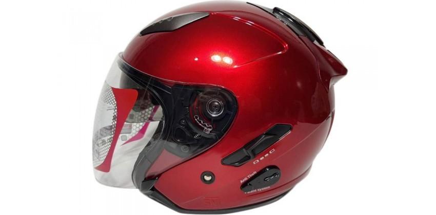 Galaxy Slide - Red Maroon  Helm Half-face Merah Maroon M 0