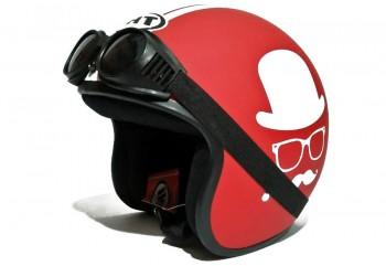 THI Helmet Gentleman Helm Retro Hitam