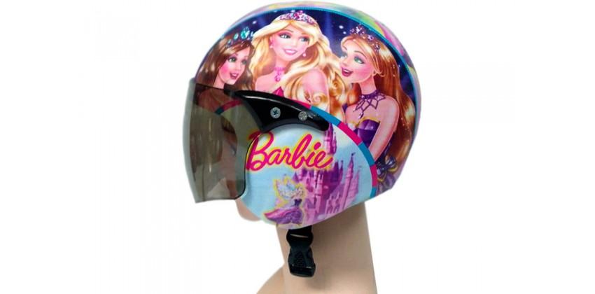 Helm Anak Full Face Allzize Untuk Usia 2-7 Tahun Motif Barbie Full-face 0
