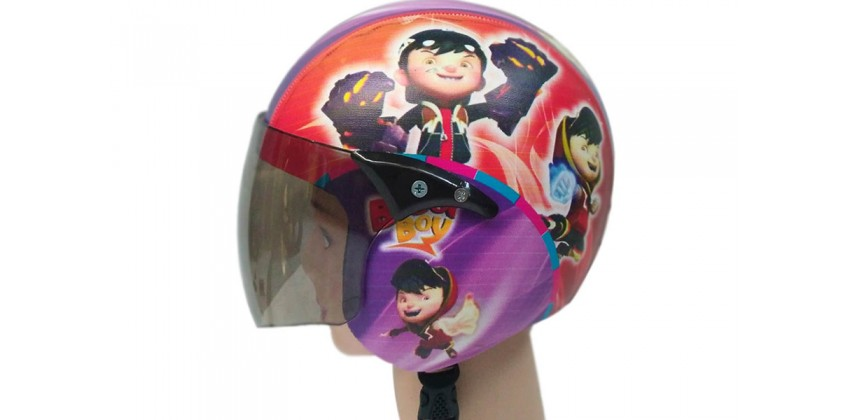 Helm Anak Full Face Allzize Untuk Usia 2-7 Tahun Motif Boboy BoiHalf-face 0