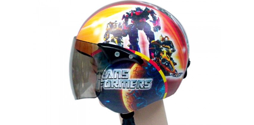 Helm Anak Full Face Allzize Untuk Usia 2-7 Tahun Motif TransformerHalf-face 0