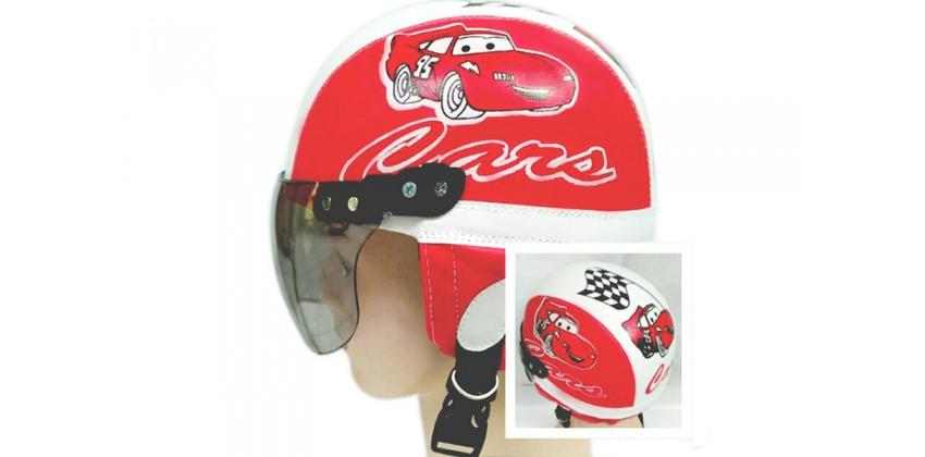 Helm Anak Model Chip Allsize Untuk Usia 1-4 Tahun Motif Cars Merah Putih 0