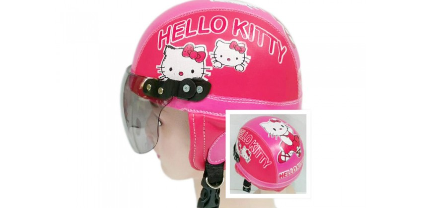 Helm Anak Model Chip Allsize Untuk Usia 1-4 Tahun MotifHello Kitty Pink MerahHalf-face 0