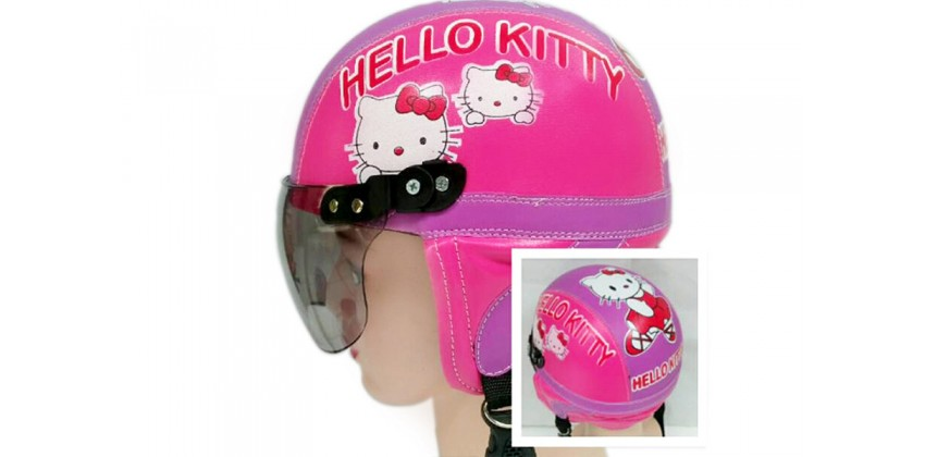 Helm Anak Model Chip Allsize Untuk Usia 1-4 Tahun MotifHello Kitty Pink UnguHalf-face 0