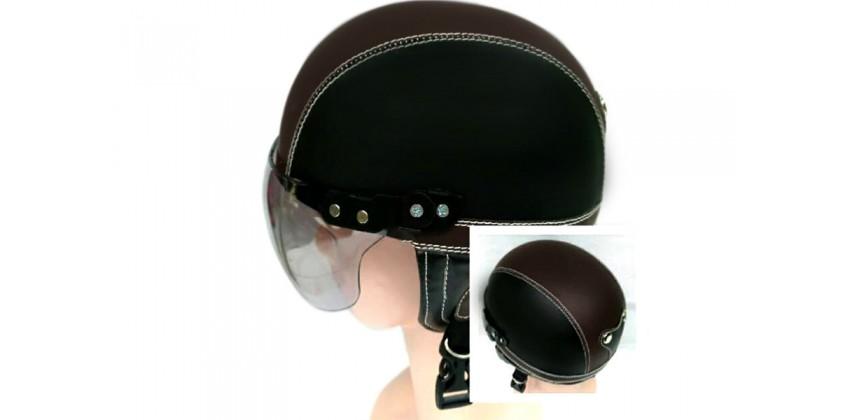 Helm Anak Model Chip Allsize Untuk Usia 1-4 Tahun Motif PolosHitam CoklatHalf-face 0