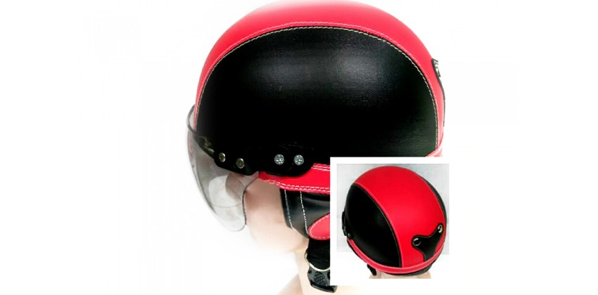 Helm Anak Model Chip Allsize Untuk Usia 1-4 Tahun Motif PolosHitam MerahHalf-face 0