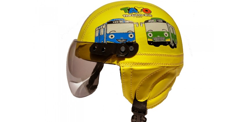 Helm Anak Model Chip Allsize Untuk Usia 1-4 Tahun Motif Tayo Kuning 0