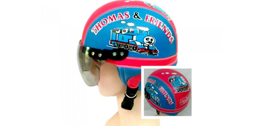 Helm Anak Model Chip Allsize Untuk Usia 1-4 Tahun Motif Thomas Biru MerahHalf-face 0