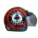 IGLOO Helm Ace Cafe Retro Red Black 1