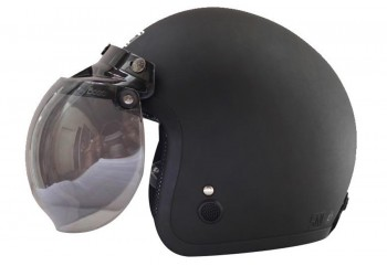 IGLOO Helm Black Doff Retro Half-face