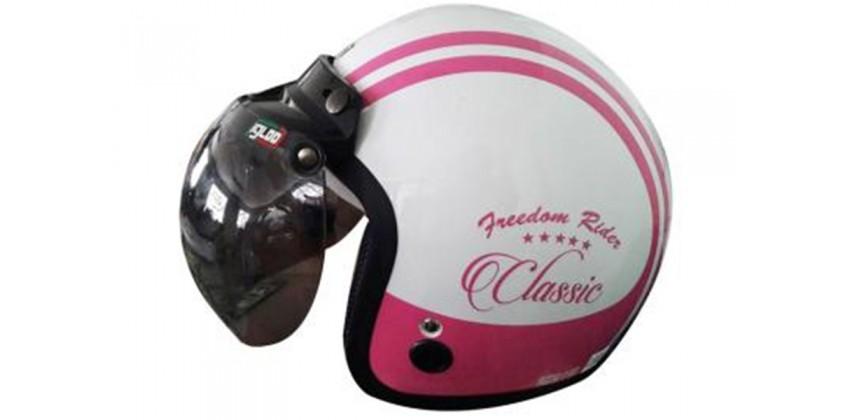 IGLOO Helm Classic 2 White Pink Retro 0
