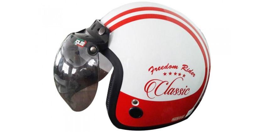 IGLOO Helm Classic #3 Retro White Red 0