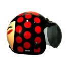 IGLOO Helm Josei Dot Retro Black Red 1