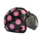 IGLOO Helm Moon Retro Black Pink 1