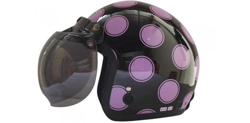 IGLOO Helm Moon Retro Black Purple 0