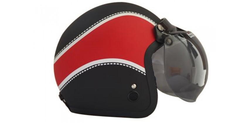 IGLOO Helm Retro Classic 1 Black Matt Red Retro 0