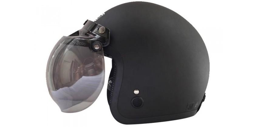 IGLOO Helm Retro Half-face Black Doff 0