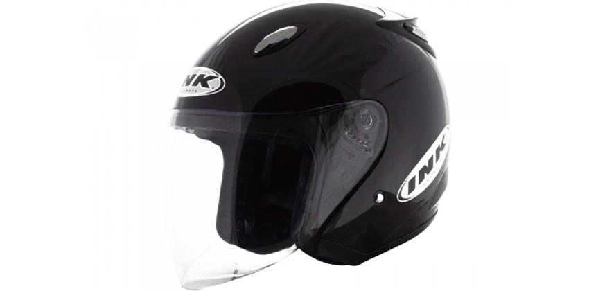 INK Helm Centro Jet Solid Half Face  Black Matt 0