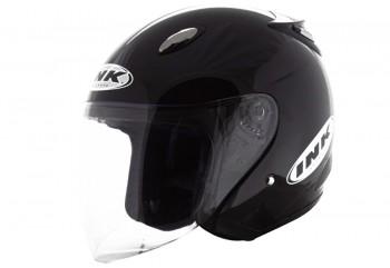 INK Helm Centro Jet Solid Half Face - Black Metallic