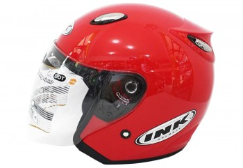 INK Helm Centro Jet  Half Face - Fire Red