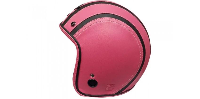 JET STAR Helm Full Kulit #2 Half-face Pink Black 0