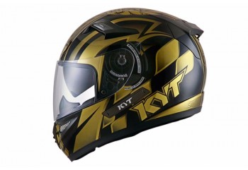 K2 Rider World GP Ready Full-face Gold, Hitam