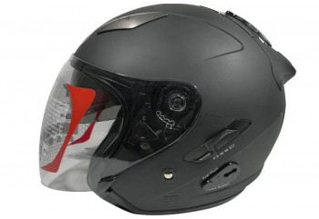 KYT Galaxy Slide - Black Doff Helm Half Face