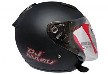 KYT Helm DJ Maru Solid Half Face - Black Doff