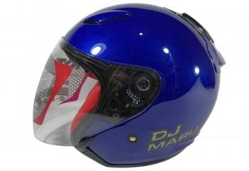 KYT Helm DJ Maru Solid Half Face - Blue