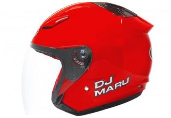 KYT Helm DJ Maru Solid Half Face - Fire Red