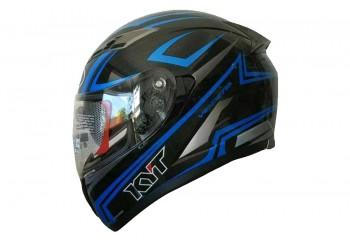 KYT Helm Falcon 2 Carbon Full Face - Black/Blue