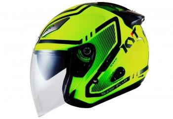 KYT KYT Helm Galaxy Slide #1 Half Face - Yel/Fluo/Bk  Helm Half-face