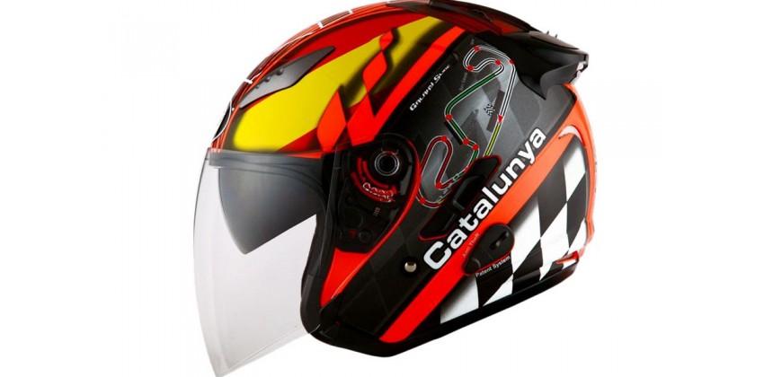 KYT Helm Galaxy Slide Circuit Half Face - Catalunya 0