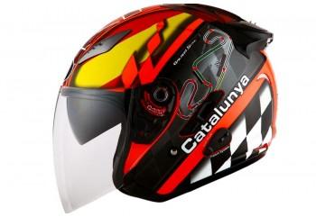KYT Helm Galaxy Slide Circuit Half Face - Catalunya