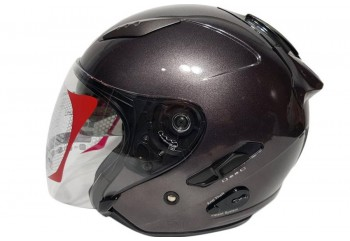 KYT Helm Galaxy Slide Half Face - Gunmetal