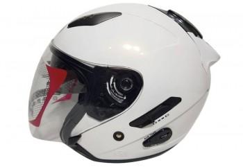 KYT Helm Galaxy Slide Half Face - White Half-face