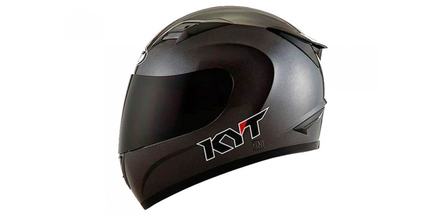 KYT Helm R10 Solid Full Face - Gunmetal 0