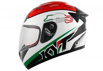 KYT Helm RC Seven #15 Italy Full Face - White Full-face