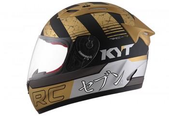 KYT Helm RC Seven #17 Full Face - Gold