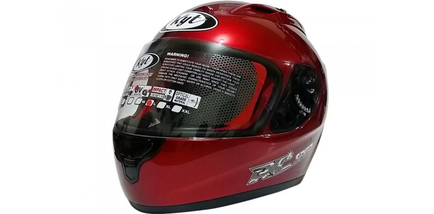 KYT Helm RC Seven Solid Full Face - Red Maroon 0